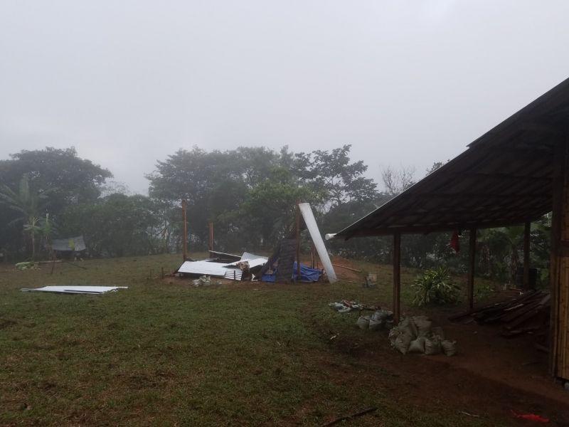 Kampf mit dem Regen